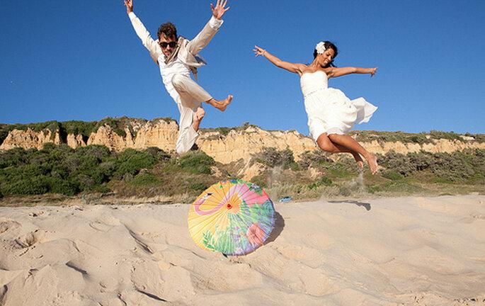 Mariage au bord de la mer, laissez aller votre créativité pour vos photos. Photo: Nuno Palha