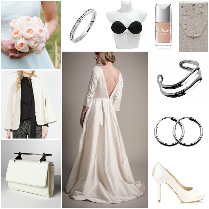 Look mariée minimaliste