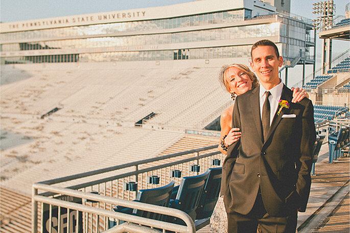 Fotografía tomada en el estadio de la Universidad Estatal de Pennsilvania (Penn State). Foto de Sweet Little Photographs