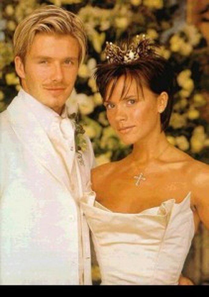 Victoria Beckham was a short-haired bride