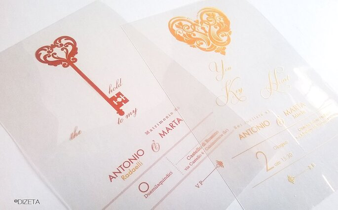 diZeta Creative wedding invitation