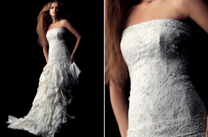 Vestido de novia en capas, colección Fabio Gritti 2012