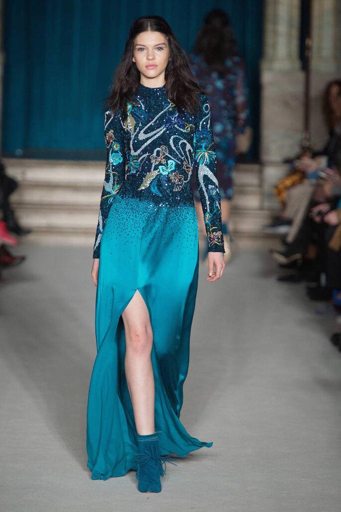 Vestidos de fiesta 2015 en color azul - Matthew Williamson Facebook Oficial
