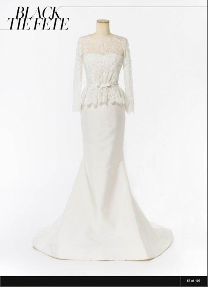 Vogue.com: vestido de noiva Carolina Herrera modelo Alyssa