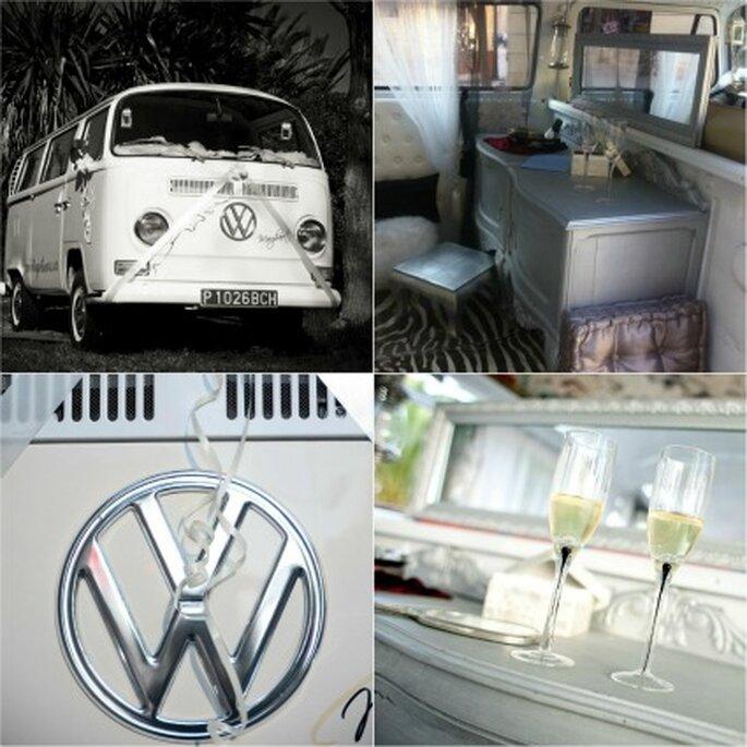 Diferentes detalles de la Volkswagen Margharet, la Stars más utilizada para las bodas - Vintage Tours