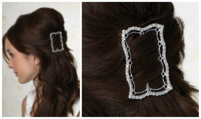 Silberne Haarspange aus Kristallen - Foto: www.bigis-schatzkiste.de