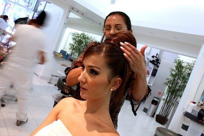 Peinados para novias. Foto del sitio de Gloria Torres.