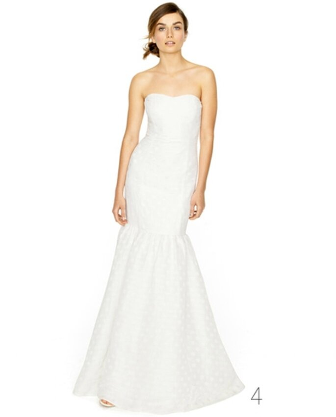 Vestido de novia estilo sirena - Foto: JCrew Wedding Collection 2012