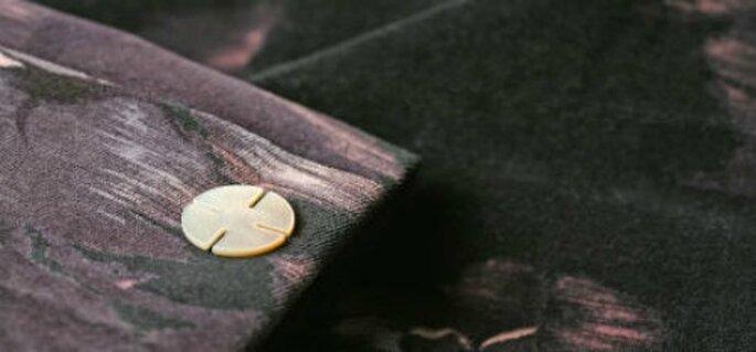 Accessoirisez votre tenue de mariage avec des boutons couture ! - Source : Lozio, www.boutons-pression.fr