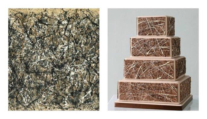 Wedding cake ispirata all'arte del pittore Jackson Pollock