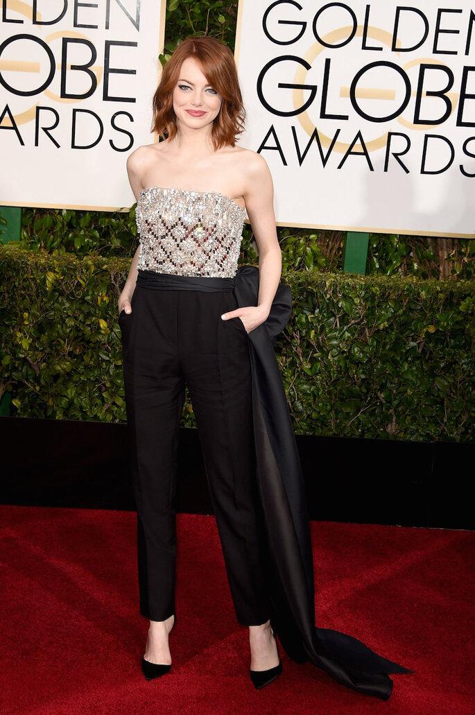 Las mejor vestidas de los Golden Globe Awards 2015 - Lanvin (Emma Stone)
