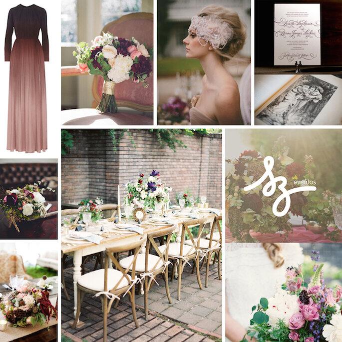 Una boda decorada con toque clásico - Bellafigura, Birds of a Feather, Our Labor of Love