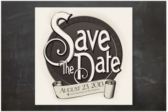 Los Save the Date más originales para boda - Foto Minted