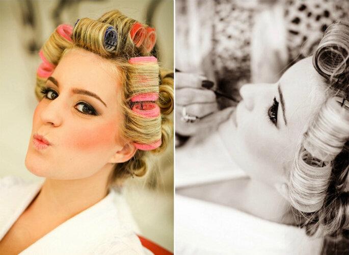 Un 'look' de novia inspirado en Marilyn Monroe. Foto: Paulo Heredia
