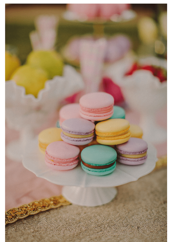 Macarons para el postre de tu boda - Foto David Robertson