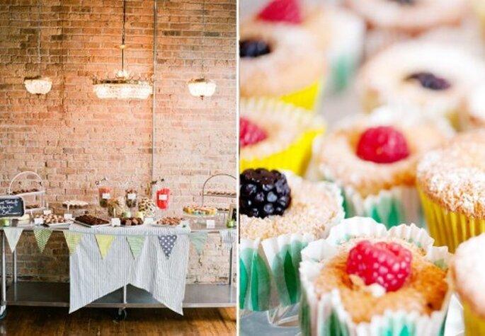 Cupcakes gourmet para boda. Fotos de Jen Lynne.