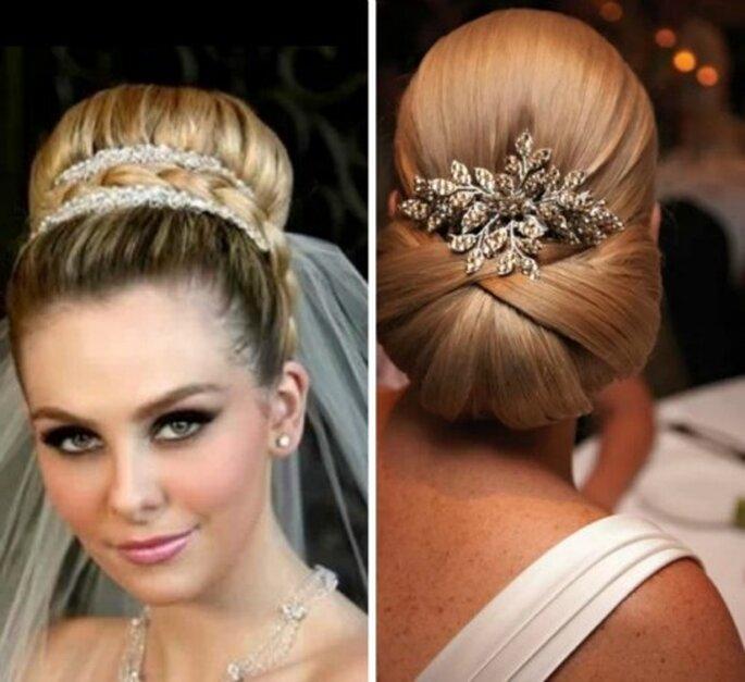 Pas question de négliger sa coiffure de mariage - Source : Pinterest