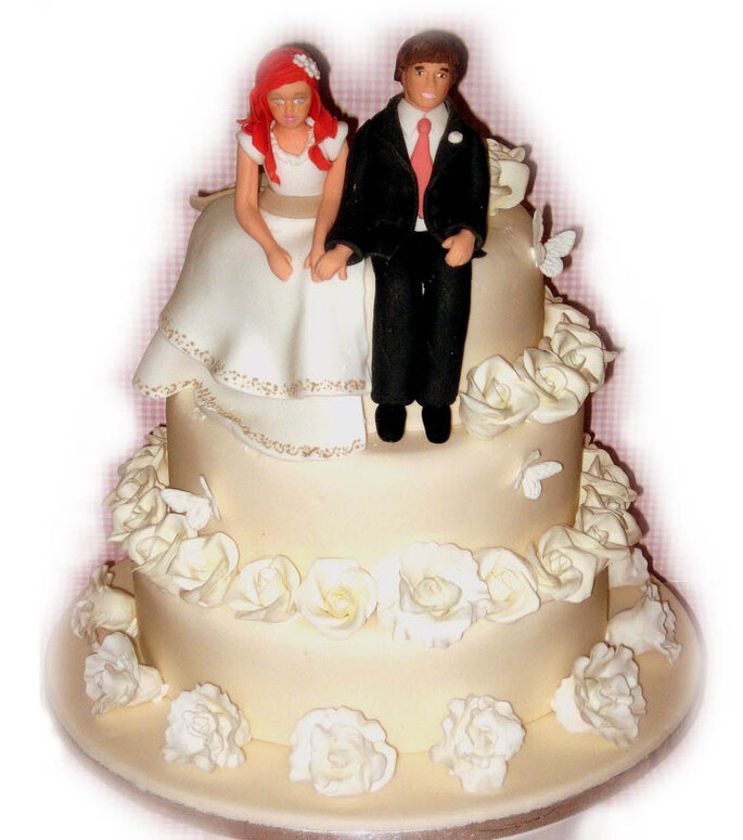 Un pastel de bodas especial