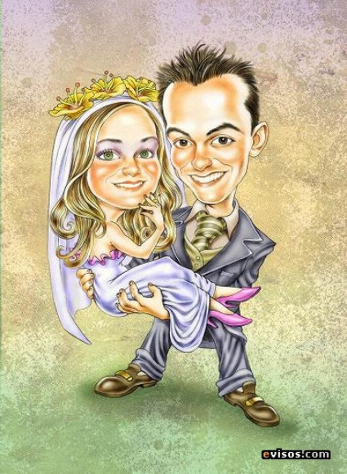 Invitación caricatura de evisos.com
