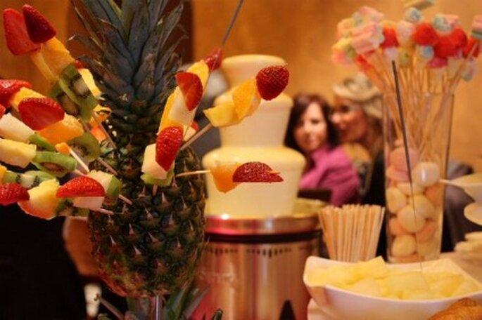 Fuentes de chocolate para el banquete de tu boda