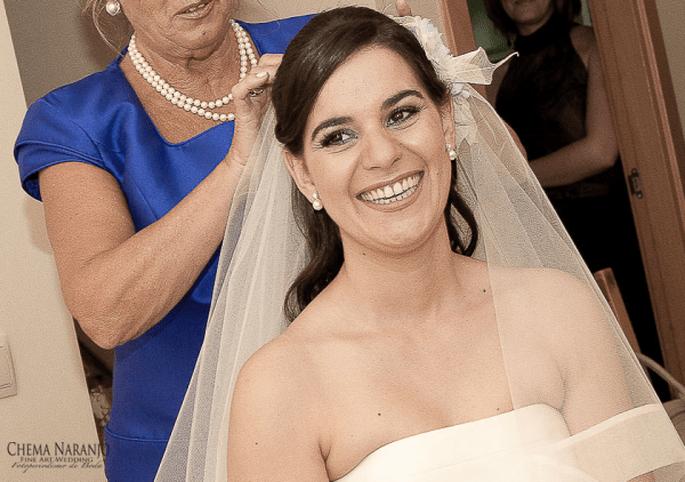 Brautfrisuren zum Tragen eines Schleiers. Foto: Chema Naranjo