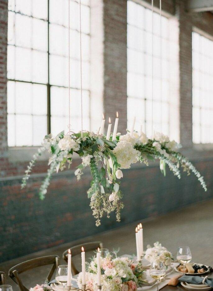 Decoración suspendida para bodas - Foto Chris Isham