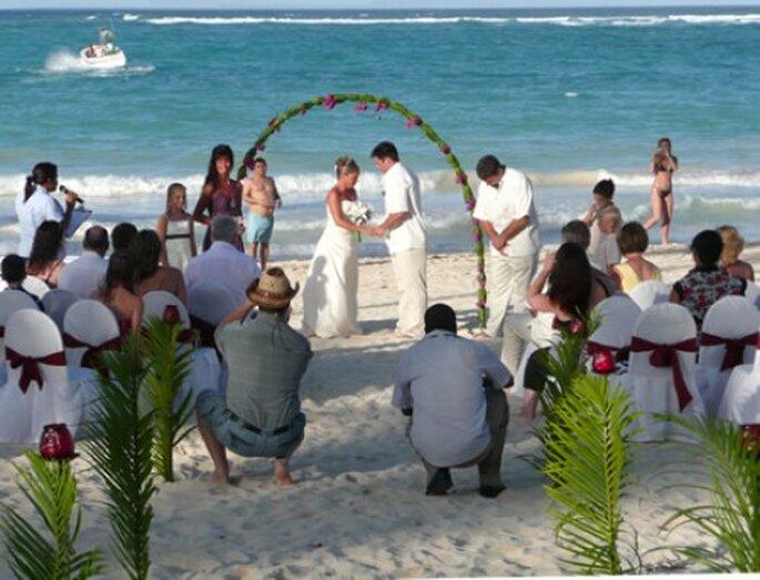 Boda en la playa de Cancún