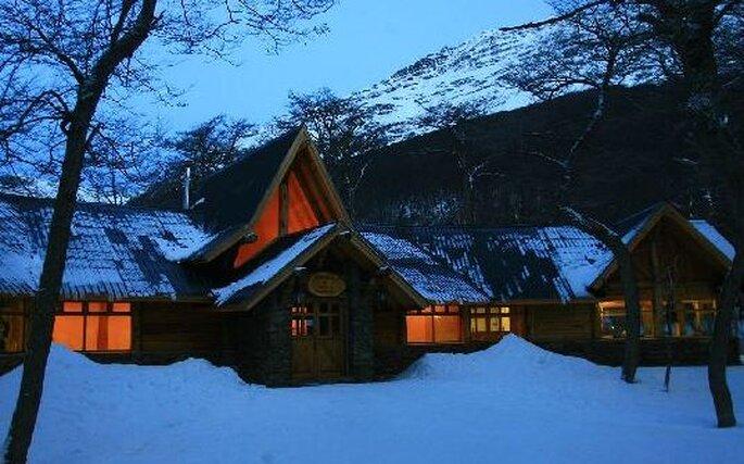 Logement cabane avec une excellente gastronomie dans un paysage austral et romantique