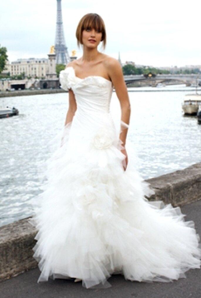 Cymbeline 2010 - Dulcine, vestido en tafetán drapeado y falda en tul