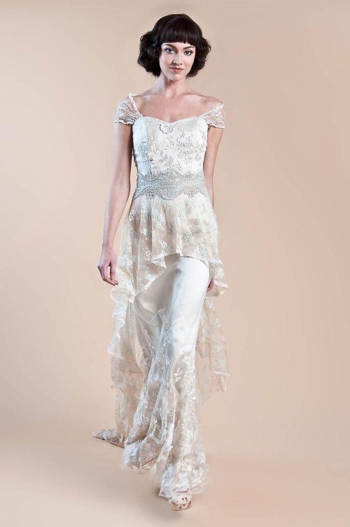 """Vestido de novia con estilo retro para un look inspirado en """"The Great Gatsby"""" - Foto Claire Pettibone"""