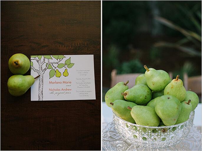 Idées pour décorer votre mariage avec des fruits - Photo Joe + Kathina