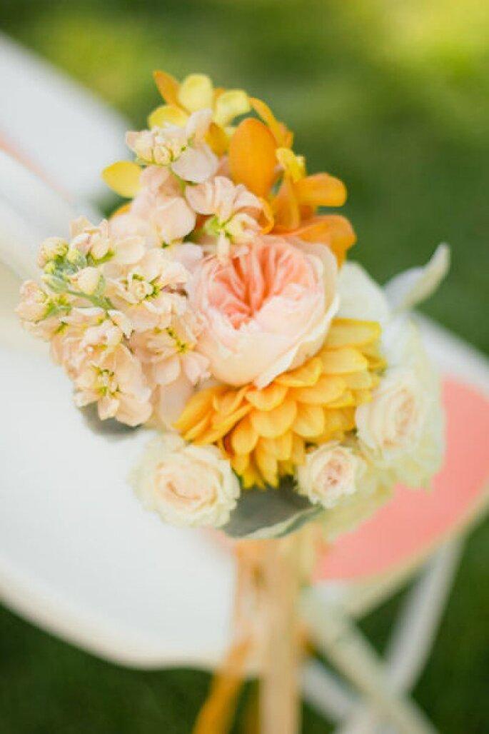 Los colores perfectos para decorar una boda en 2015 - Foto Chad Morgan Photography