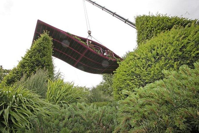 Los jardines son auténticas instalaciones arqquitectónicas. Foto: Chelsea Fower Show.