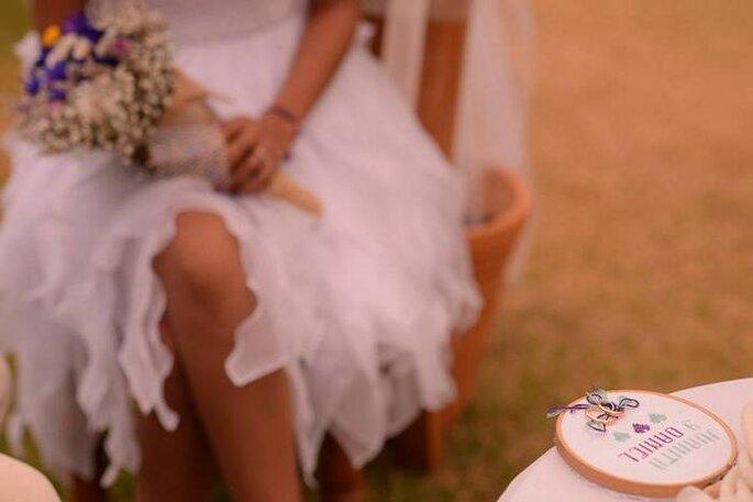 Una alternativa original al cojín para los anillos. Foto: Juyá Photographer