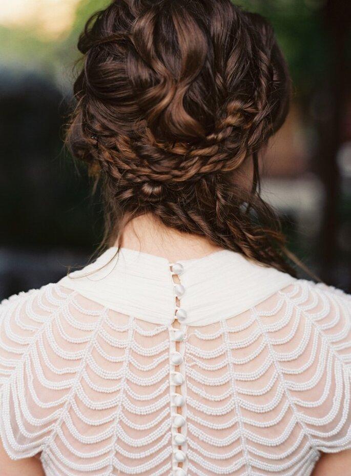 Trenzas en tu peinado de novia 2015 - Foto Corinne Krogh