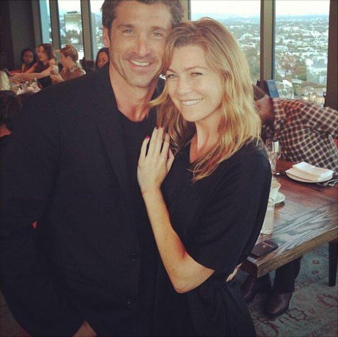 Meredith et Derek - Ellen Pompeo Instagram