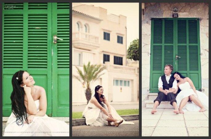 Fotoaufnahmen in den Straßen Can Picaforts beim After Wedding Shooting - Fotos: Simone Hertel