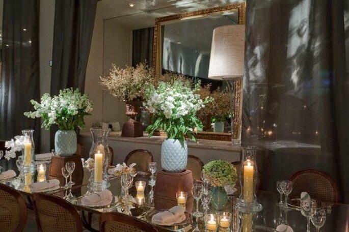 Decoración mesa de boda. Fotografía Boutique de Tres