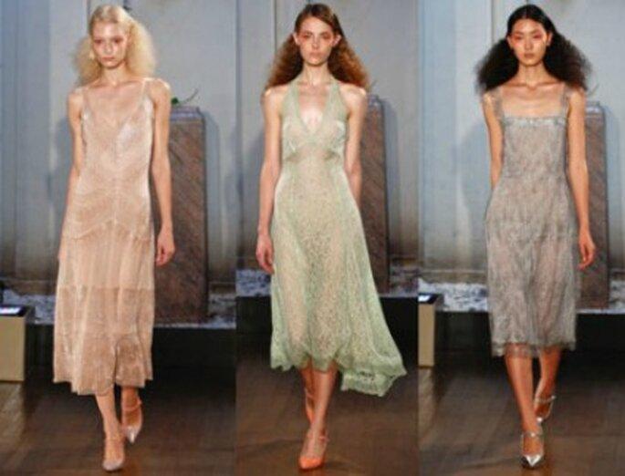 Philosophy di Alberta Ferretti propone abiti leggeri in colori pastello. Foto www.verycool.it