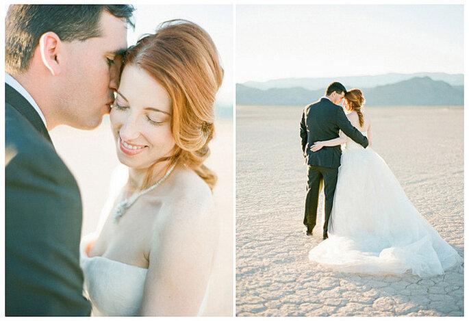 "Vestido de novia blanco para una boda ""Total white"". Foto: KT Merry Photography"