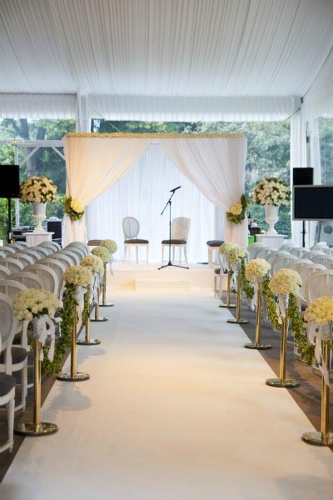 Im Pavillon Dauphine hat jeder Hochzeitssaal einen Zugang zum Garten