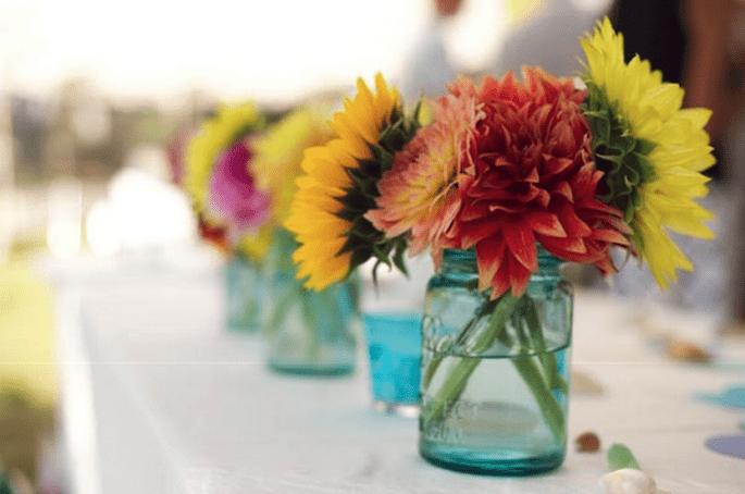 Decoración de boda con tarros de cristal - Foto Live View Studios