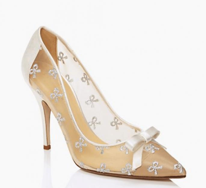 Lindas transparencias en los zapatos de novia 2014 - Foto Kate Spade
