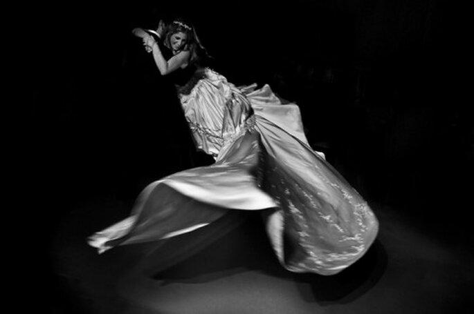 Saber sujetar la cauda de tu vestido de novia. Foto Fernando Garcia