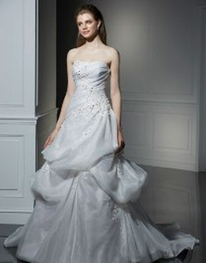 Vestido gris plata - Anjolique 2009