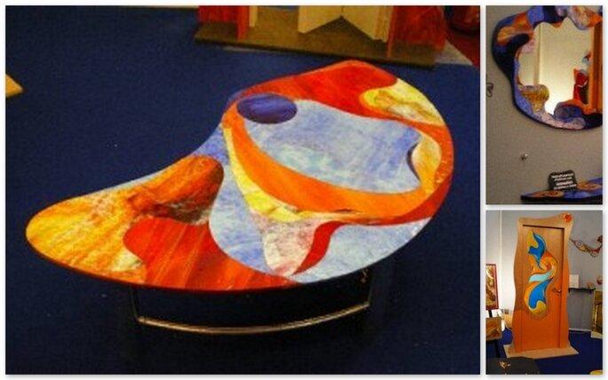 Mobili ed oggetti di arredamento trasformati in opere d'arte