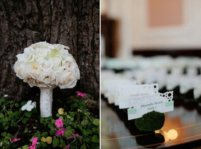 Números de mesa originales para boda. Fotografía Bianca Valentim