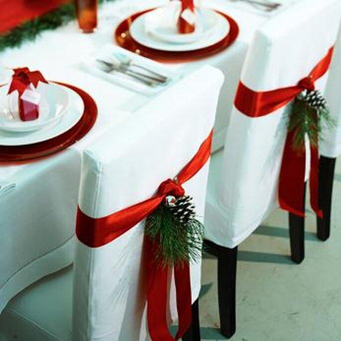 Decoración de una boda en Navidad