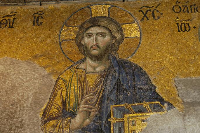 Mosaico otomano en Santa Sofía