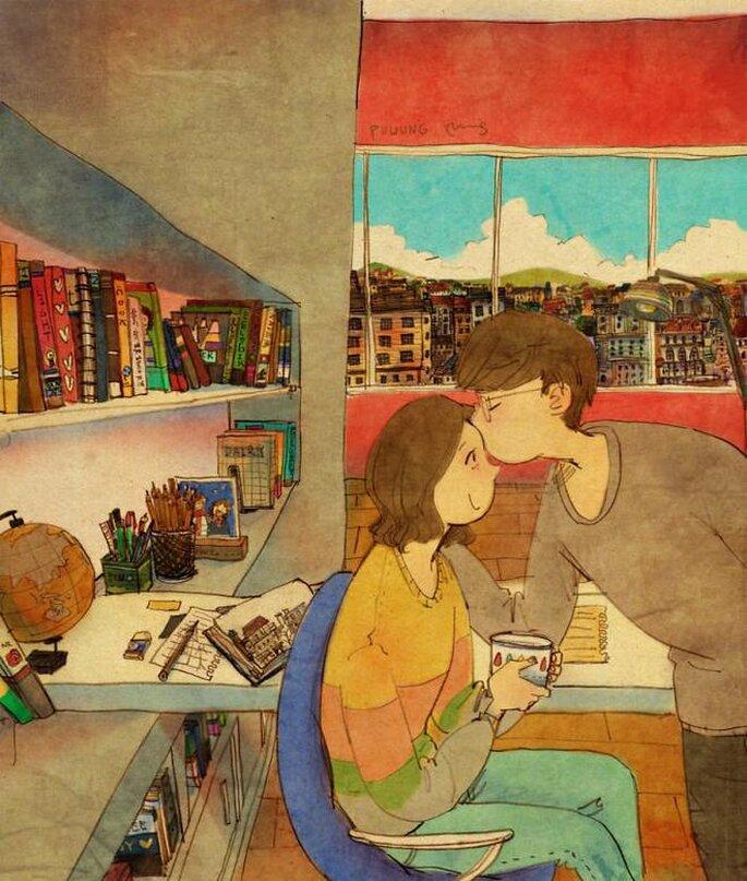 Liefde is kusjes geven